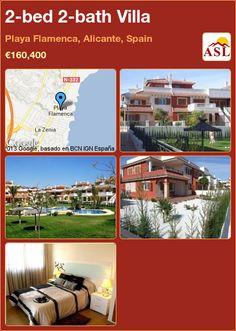 2-bed 2-bath Villa in Playa Flamenca, Alicante, Spain ►€160,400 #PropertyForSaleInSpain