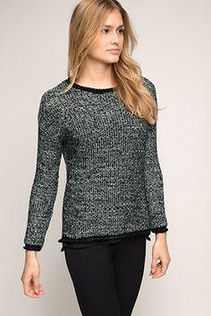 Esprit / Melierter 2-in-1-Sweater mit Lurex