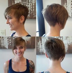 Asymmetrical Short Hairstyle - Pixie Haircut with Bangs