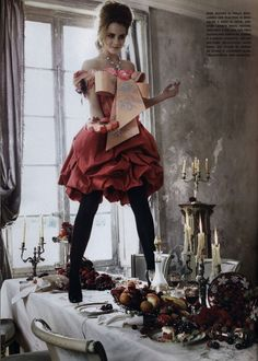 Emma Watson Italian Vogue. dress is Christian Lacroix... there is something mad and genius about him....