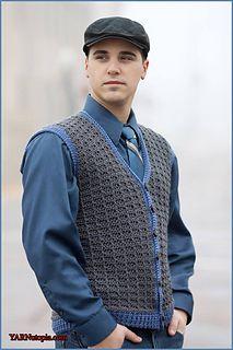 Crochet Tutorial: Sharp Dressed Man Vest - YARNutopia by Nadia Fuad Crochet Men, Crochet Shirt, Free Crochet, Crochet Vests, Crochet Cape, Crochet Cardigan, Crochet Vest Pattern, Crochet Stitches Patterns, Shawl Patterns