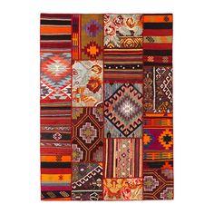 SILKEBORG Tæppe, fladtvævet IKEA Tæppet er unikt, fordi det er lavet af lapper fra gamle, traditionelt håndlavede tyrkiske tæpper.