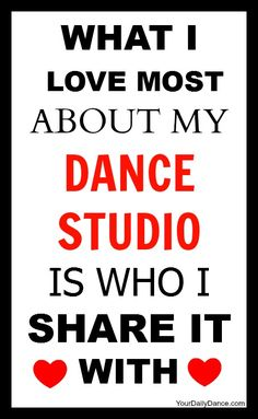 What I love about my dance studio...