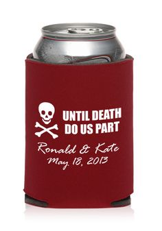 These wedding koozies will be the coolest wedding favors your guests will ever receive! They surely won't forget about your big day!