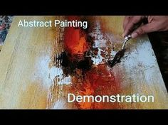 Abstract painting / Demonstration of EASY abstract painting in Acrylics / Textured - Acrylic Abstract Painting # Learn to paint Easy and Simple abstract painting # – YouTu - Abstract Painting Easy, Abstract Painting Techniques, Painting Videos, Texture Painting, Art Techniques, Abstract Art, Abstract Landscape, Acrylic Art, Acrylic Paintings