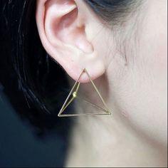 3-D effect shape .. product as earring...