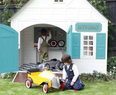 I don't know who would love this more, my son, my daughter, my husband or me! Play garage/cubby house