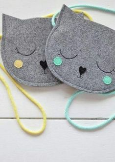 Kids bag Purse for girl Gift for girl Cat Bag Mini Grey Kids Purse, Cat Purse, Cat Bag, Gifts For Girls, Girl Gifts, Sewing Crafts, Sewing Projects, Sewing Ideas, Animal Bag
