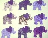 9 Easy to Use Purple Elephant Iron On Fabric Appliques