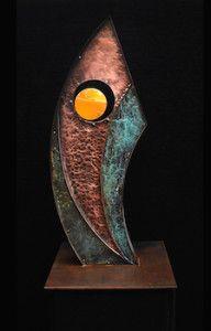 David Campbell Metalworks Copper Art, Artist Gallery, Metal Working, Bookends, Decorative Metal, Steel, Metals, David, Brass