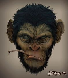 primates by poloverde Logo Animal, Gorilla Tattoo, Monkey Tattoos, Monkey Art, Creation Art, 3d Cnc, Planet Of The Apes, King Kong, Graffiti Art