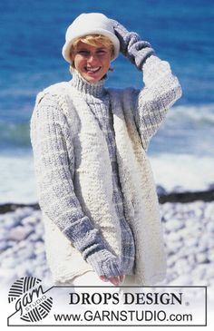 "DROPS jumper and gloves in ""Alpaca"", sleeveless jumper in ""Ull-Flame"" and crochet hat in ""Alaska"". ~ DROPS Design"