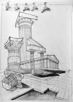 Greek Architecture Drawings Old Architecture 39 Sketches On Pinterest