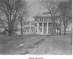 """This mansion in Edgemoor, Delaware called """"Ellerslie"""" was home to F. Scott and Zelda Fitzgerald from 1927 to 1929. It was demolished in 1973 to make way for a Dupont chemical plant."""