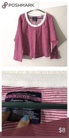 U.S. POLO ASSN. short sleeve red striped U.S. POLO ASSN. short sleeve red striped U.S. Polo Assn. Tops Tees - Short Sleeve