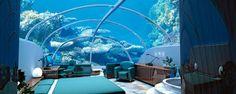 chambre d'hotel de luxe sous-marine dans un hotel a turquie a interieur en bleu