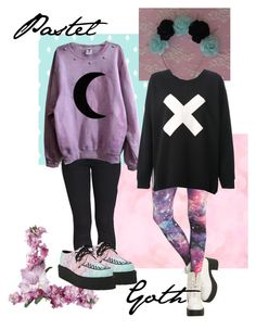 """""""Pastel Goth"""" by iheartbandsdw ❤ liked on Polyvore featuring Forever 21, Each X Other, women's clothing, women's fashion, women, female, woman, misses, juniors and pastelgoth"""