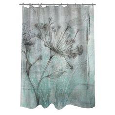 Thumbprintz Ombre Wildflowers I Shower Curtain & Reviews | Wayfair