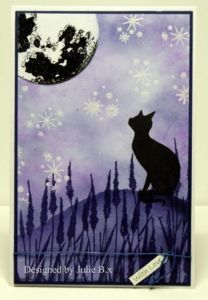 New Year, New Challenge – Starry Night Sky – Lavinia Stamps Retail Starry Night Sky, Night Skies, Lavinia Stamps Cards, Rubber Stamp Company, Cat Cards, Painting Lessons, Moon Art, Winter Cards, Faeries