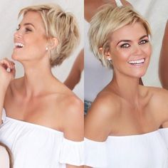 Krissa Fowles short cropped spiky blonde pixie @blakepickett2 More