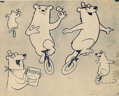 Frosty'Os Bear model sheet by grickily, via Flickr
