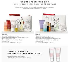Nordstrom Free Bonus Gift with Purchase Offers from Clarins and Clinique - details at MakeupBonuses.com #Clarins #Clinique #Nordstrom #GWP