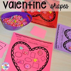 Valentine's Day Themed Centers and Activities - Pocket of Preschool Valentine Theme, Valentine Day Crafts, Valentine Ideas, Valentine Nails, Saint Valentine, Diy Valentine's Pillows, Valentines Day Activities, Valentines Gifts For Boyfriend, Preschool Activities