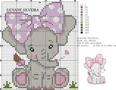 quilting like crazy Baby Cross Stitch Patterns, Cross Stitch For Kids, Cute Cross Stitch, Cross Stitch Charts, Cross Stitch Designs, Elephant Cross Stitch, Cross Stitch Animals, Pixel Crochet, C2c Crochet