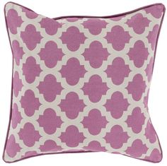 Birmingham Lattice Pillow in Orchid.