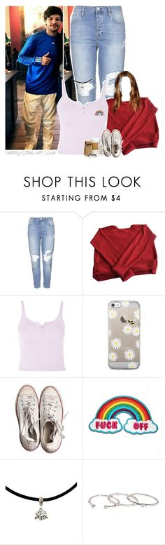 """""""Getting coffee with Louis"""" by heslovely ❤ liked on Polyvore featuring Topshop, Eres, Jil Sander, Converse, Gorjana and Cutler and Gross"""