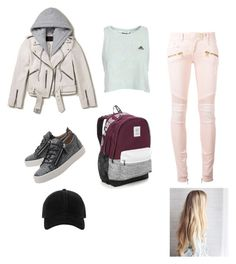 """Untitled #17"" by saavroth on Polyvore featuring Balmain, AllSaints, Giuseppe Zanotti, Victoria's Secret and rag & bone"