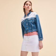 05ecbf974be85 Maje Two-tone denim jacket Coat Sale