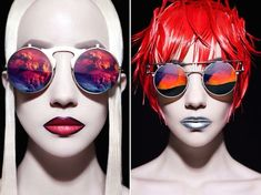 Here is a superb fashion series made by Chinese photographer Huainan Li. The concept consist in illustrating the reflected landscapes on glasses by a subtle and graphic Make-up Art.