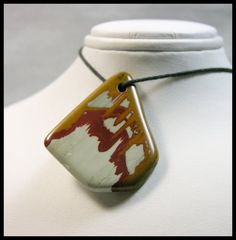 Statement Piece  Free Form Focal Bead Made Of Owyhee Jasper