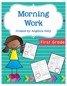Math+morning+work+provides+practice+with+multiple+skills+for+your+first+grade+students.++Skills+covered+on+these+pages+include+tally+marks,+odd+and+even+numbers,+addition,+subtraction,+time+to+the+hour+and+half+hour,+fractions,+coins,+patterns+and+more.
