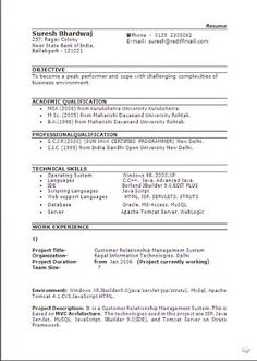Best Curriculum Vitae Free Download Sample Template Excellent