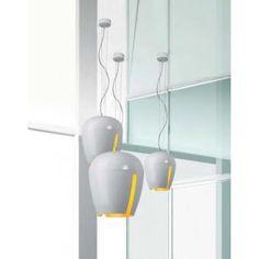 Zita 20 hanglamp wit glanzend, oranje interieur. Artikelcode: L27353212005. Brink Licht.