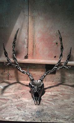 Metal Deer sculpture by Dsrve on Etsy