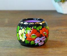 Beautiful hand painted ART candle holder  by TreasureUA on Etsy