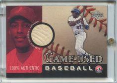 2000 Upper Deck Vladimir Guerrero Authentic Game Used Baseball Card B-VG