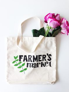 Farmer's Market DIY Tote Bag (with free downloadable stencil template PDF) | Henry Happened