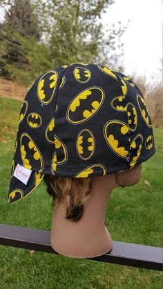Batman Welding Cap Baseball Hat Helmet/Hard by CoralMoonCreations