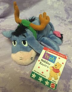 "Eeyore Holiday Plush Reindeer Antlers Stuffed Animal Kohl's Mattel 7"" #Mattel"