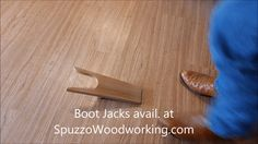 Handcrafted Wooden Boot Jack / Boot Puller to help remove boots. Each Boot Jack is truly unique! Handmade with pride in Idaho, USA. using over 40 years of woodworking experience. All of our products are painstakingly handmade with the finest selected wood. Each Boot Jack is very unique each being made with a labor of love. Since every piece of wood can be different in its natural beauty, featuring variations in color and character. SpuzzoWoodworking.com