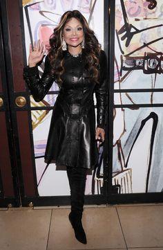 La Toya Jackson Leather Dress