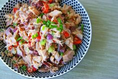 Loaded Tuna Salad - She suggests eat it as is - as a Sandwich Filling - or as a Pasta Salad with whole wheat pasta