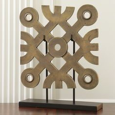 DecRenew: Global Views 9.92130 Tribal Panel Sculpture with Stand GLV-9-92130