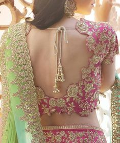 F you're wondering about the latest lehenga blouse designs, you've reached the right spot. A designer lehenga blouse can make your look fresh from fashion Blouse Back Neck Designs, New Blouse Designs, Bridal Blouse Designs, Saree Blouse Patterns, Lehenga Blouse, Red Lehenga, Anarkali, Bridal Lehenga Choli, Saree Dress