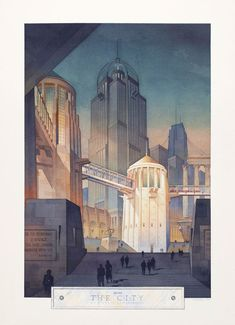 Thomas W Schaller. From the City, 1990, Aquarell, 883 x 651 mm © Thomas W Schaller