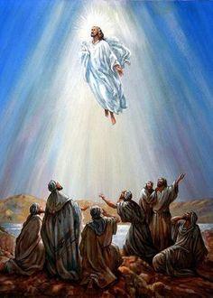 Pictures Of Jesus Christ, Bible Pictures, Easter Pictures, Heaven Art, Heaven Painting, Jesus Painting, Bibel Journal, Jesus Is Coming, Prophetic Art